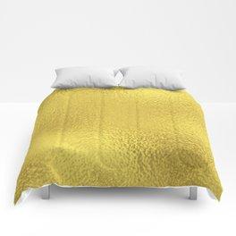 Simply Metallic in Yellow Gold Comforters