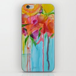 Running Roses iPhone Skin