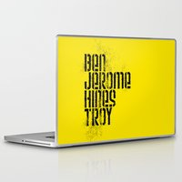 caleb troy Laptop & iPad Skins featuring Ben Jerome Hines Troy / Gold by Brian Walker