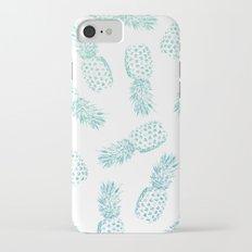 Pineapples Blue Slim Case iPhone 7