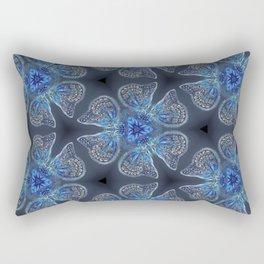 Shining Blue Butterflies Rectangular Pillow