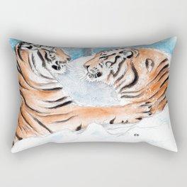Tiger Play Rectangular Pillow
