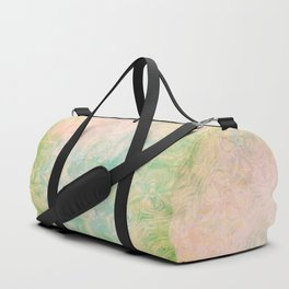 Faded butterfly and mandala in green Duffle Bag