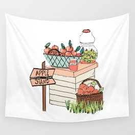 Apple Stand Wall Tapestry