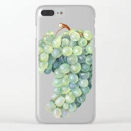 Green Grape Clear iPhone Case