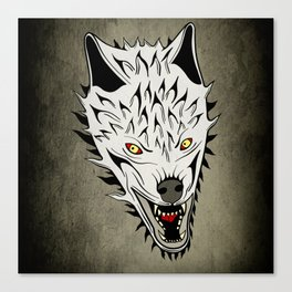 Angry Wolf Canvas Print