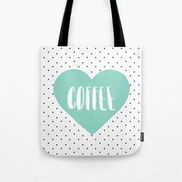 Coffee Heart - Mint Tote Bag