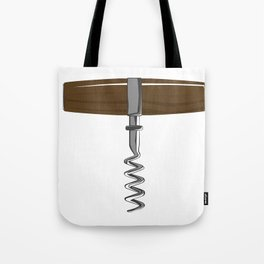 Corkscrew With Wooden Handle Tote Bag