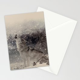 Mountain Wolves Stationery Cards