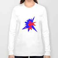 patriotic Long Sleeve T-shirts featuring Patriotic Sky by Christy Leigh