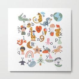 beautiful abc for kids Metal Print