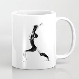 Moder black and white, minimalist ink figure yoga drawing, yoga illustration, yoga pose, yoga art Coffee Mug