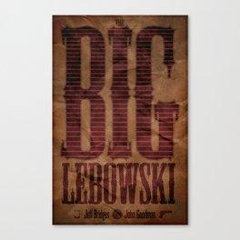 Film Friday No. 7, The Big Lebowski Canvas Print