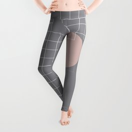 Neutral Gray #abstract #fall #color Leggings