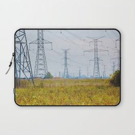Landscape with power lines Laptop Sleeve