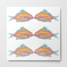 fish tropical beach coastal  Metal Print