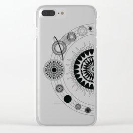 Mandala Solar System Clear iPhone Case