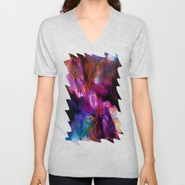 Fluid Abstract 26 Unisex V-Neck