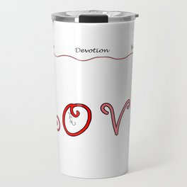 Love Word Design with Affirming Words of Love Travel Mug