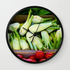 Graphic vegetables Wall Clock