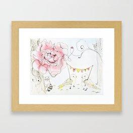 Happy Baby Birds Framed Art Print
