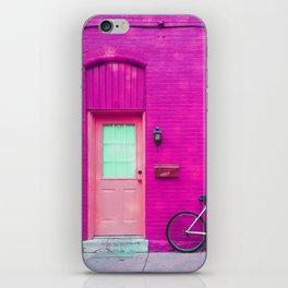 fuchsia house iPhone Skin