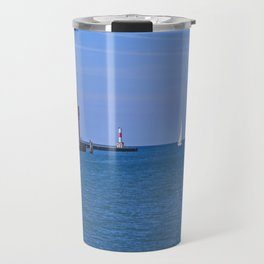 Holland Harbor Light Travel Mug