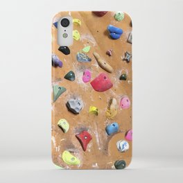 Wooden boulders climbing gym bouldering photography iPhone Case