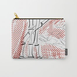Bamboo Pattern Carry-All Pouch