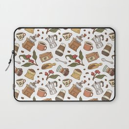 Coffee Break Pattern  Laptop Sleeve