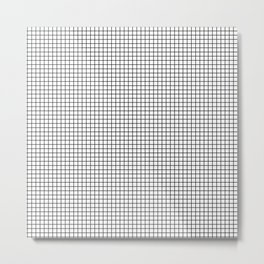 Black and White Grid Graph Metal Print