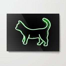 Neon kitty Metal Print