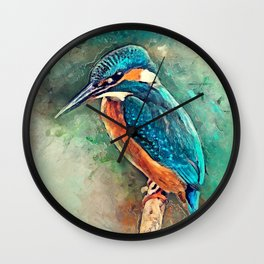 Kingfisher Wall Clock
