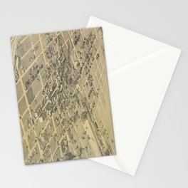 Vintage Pictorial Map of El Paso Texas (1886) Stationery Cards