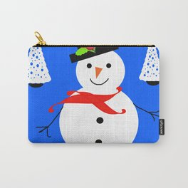 Nadolig Llawen, Merry  Christmas snowman Wales Carry-All Pouch