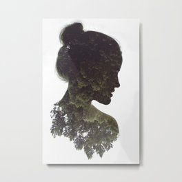 DOUBLE EXPOSURE (1) Metal Print