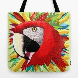 Macaw Parrot Paper Craft Digital Art Tote Bag
