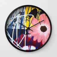 rocky horror Wall Clocks featuring ROCKY HORROR by Brandon Neher