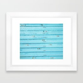 Aerial View of Swimmers in a Blue Pool Framed Art Print