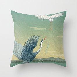 Herons Throw Pillow