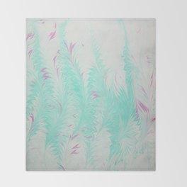 Light Blue Thistle Water Marbling Throw Blanket