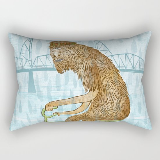 Dirty Wet Bigfoot Hipster Rectangular Pillow