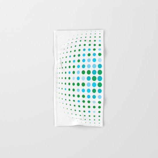 Green and blue optic Hand & Bath Towel