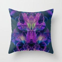 Purple Dew Throw Pillow