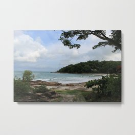 peeking into ao pai beach Metal Print
