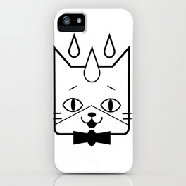 head of a cat vector icon iPhone Case