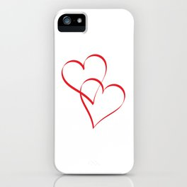 Embracing Hearts iPhone Case