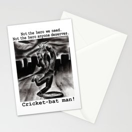Cricket Bat Man Stationery Cards