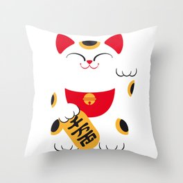 Japan Serie 4 - MANEKI NEKO Throw Pillow