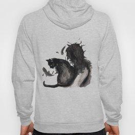 Black Cat Pixel Hoody